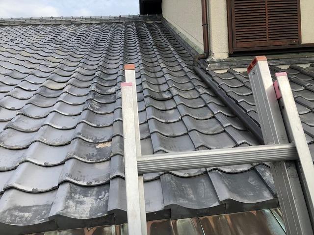 御所市の和風住宅の屋根の点検