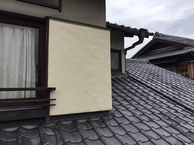 御所市の和風住宅のモルタルの外壁の塗り替え