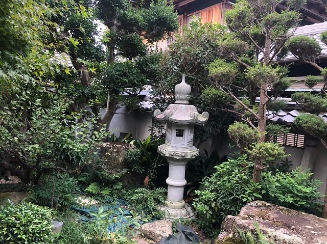 御所市の和風住宅の庭