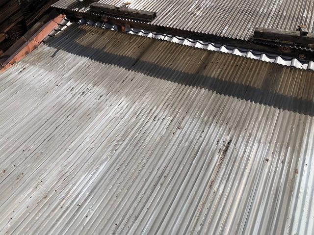 奈良市の2階屋根の葺き替え前