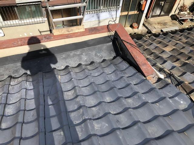 奈良市のパラペットの板金設置完了