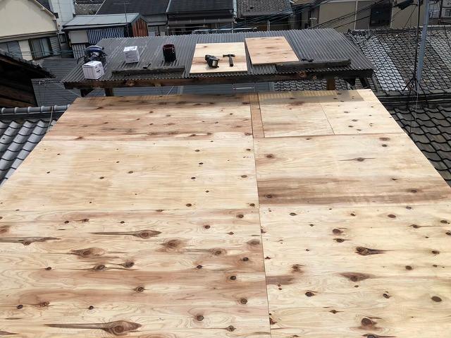 奈良市で野地板メンテナンス