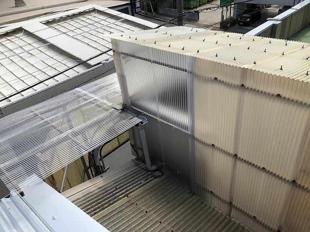 香芝市で物置・明り取り・雨樋補修をし工場の改修工事が完了しました