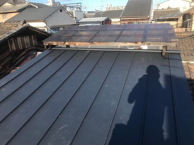 奈良市で立平葺きの屋根完成