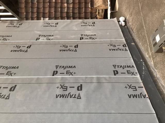生駒市でケイミュー社のカラーベストで葺き替え、大屋根完成