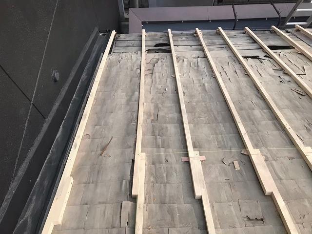 補強垂木設置開始