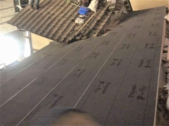 高品質な防水紙設置