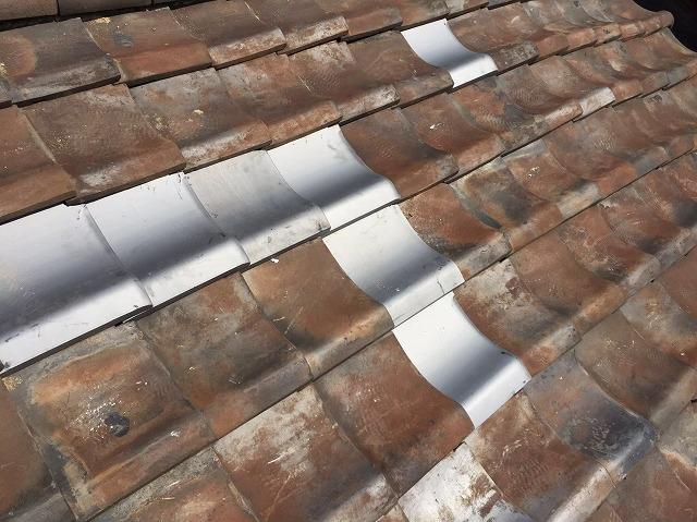 新しく湿式工法で瓦設置