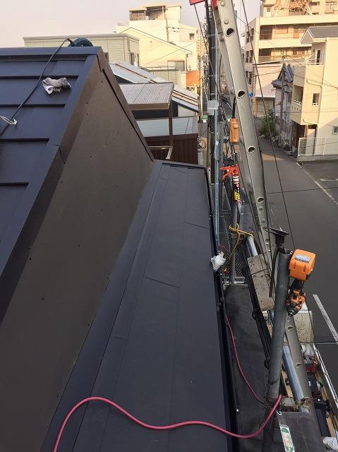 奈良市の屋根葺き替え工事の母屋部分