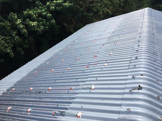 波型スレート屋根 施工前