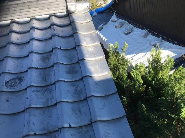 奈良市の瓦屋根のケラバのズレを修理後