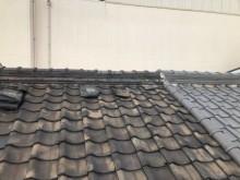 奈良市の粘土瓦屋根の施工法の点検