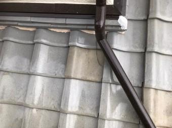 広陵町で這樋付近の瓦差し替え補修
