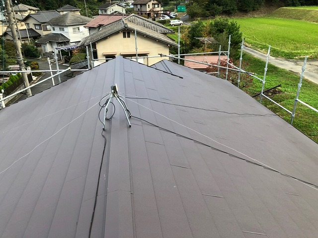 奈良市で台風やゲリラ豪雨で雨漏りの瓦屋根を葺き替えられたお客様の声