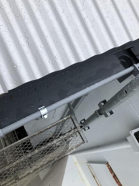 王寺町綺麗な雨樋が完成