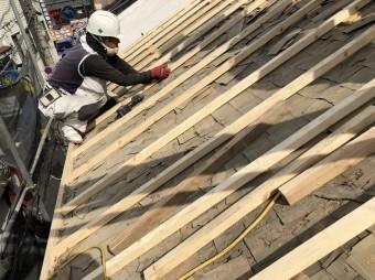 越屋根撤去の下地調整