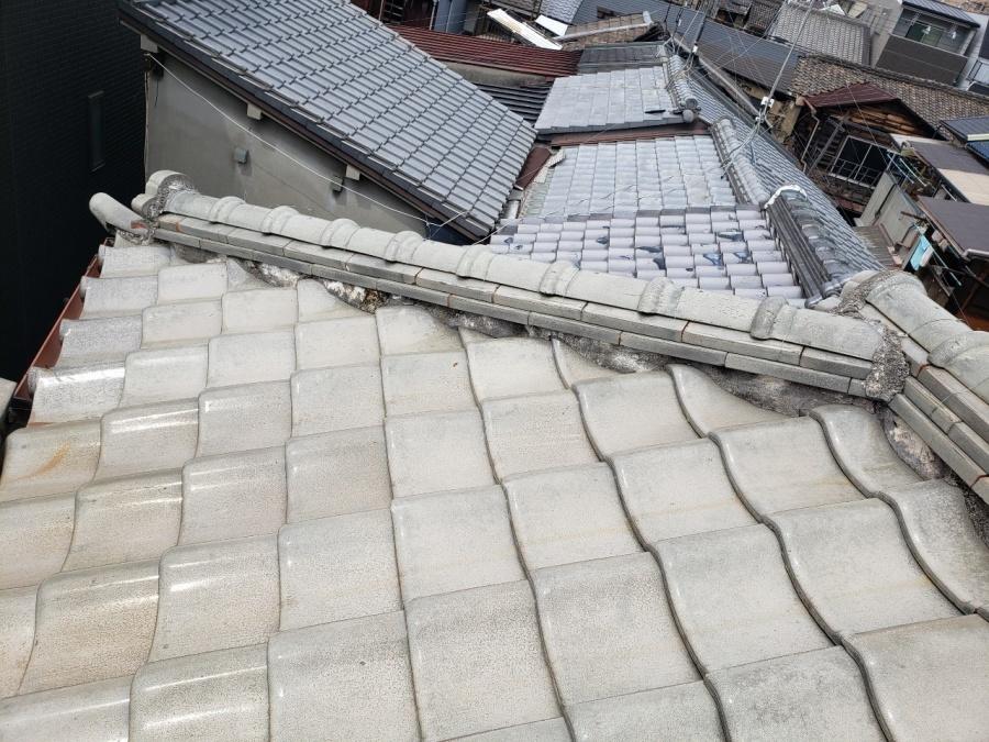 大阪市の瓦屋根の現調