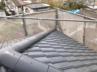 葺き替え工事の施工後の屋根