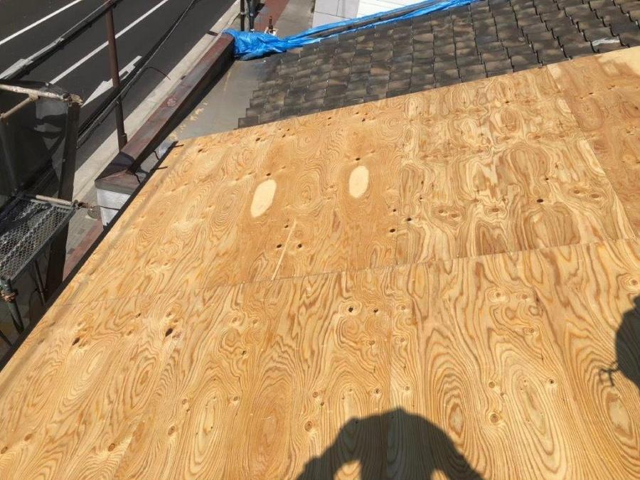 生駒市野地板貼り1