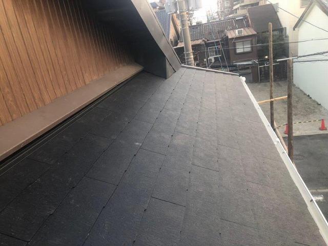 屋根施工後