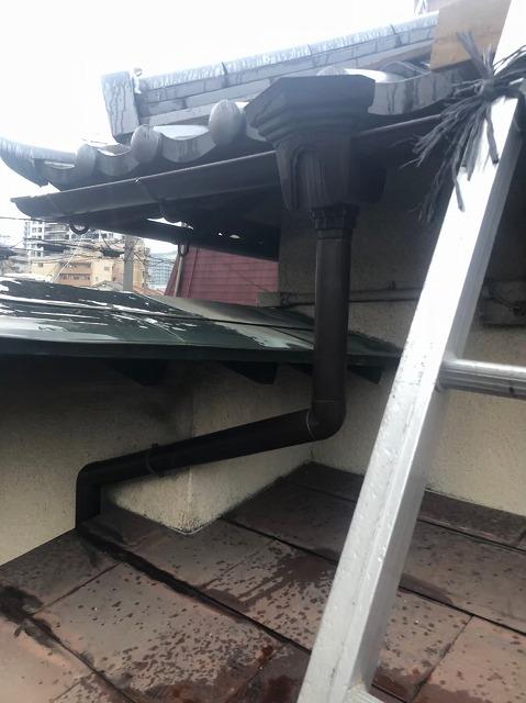 奈良市の雨樋工事完成