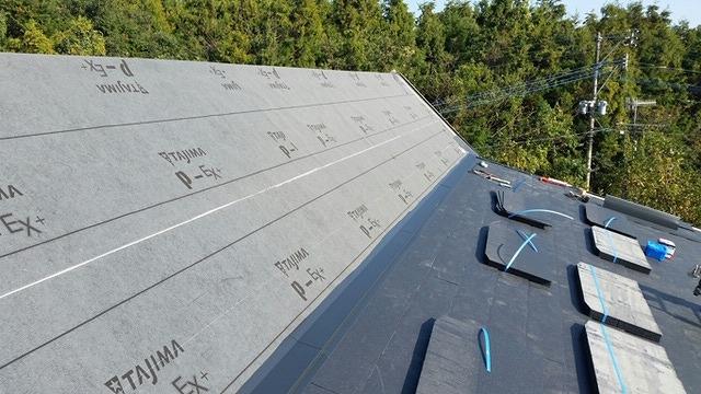 屋根材設置前写真