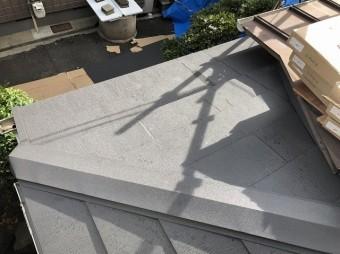 隅棟の漆喰劣化も補修