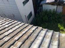 強風の影響で瓦の修繕工事