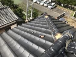 いぶし瓦屋根の現場調査