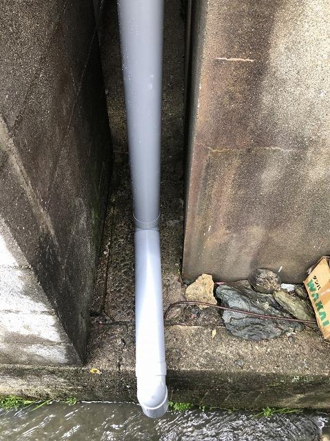 王寺町の排水の役割の雨樋
