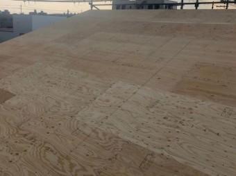 大和郡山市の新築分譲住宅A号地の屋根施工前