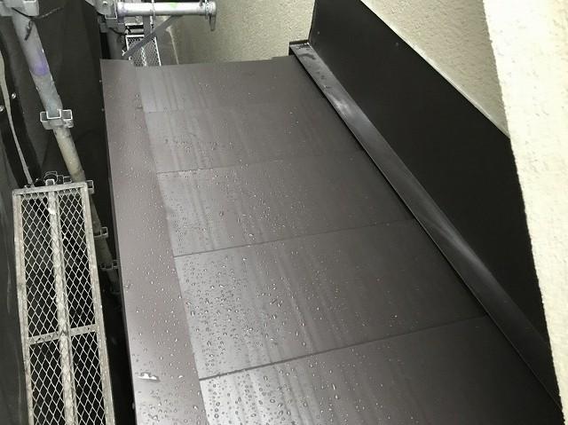 横暖ルーフに葺き替え完成の屋根