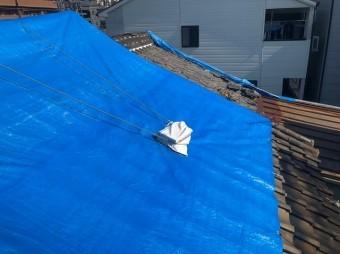 奈良市の雨漏り応急処置