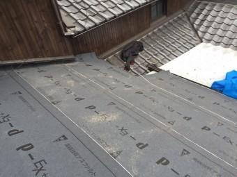施工中屋根