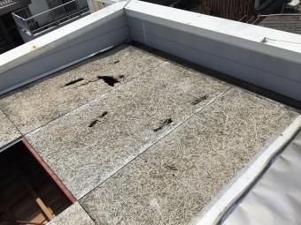 木毛セメント板撤去