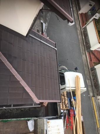 下屋根施工前