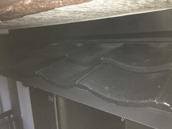 下屋根部分設置後