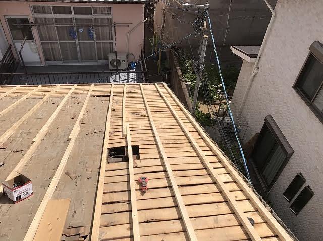 垂木設置後