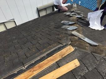 上屋根施工前