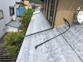 下屋根防水紙設置後