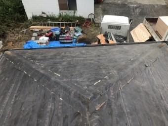 天理2 屋根剥がす