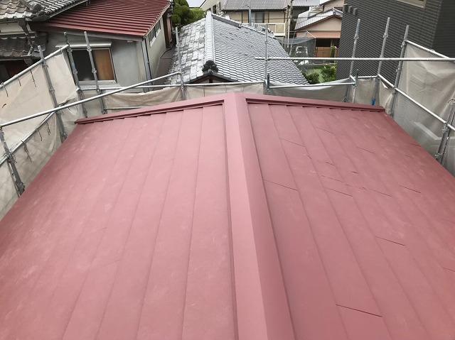 斑鳩町のスーパーガルテクト屋根