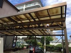 工事前のカーポートの屋根