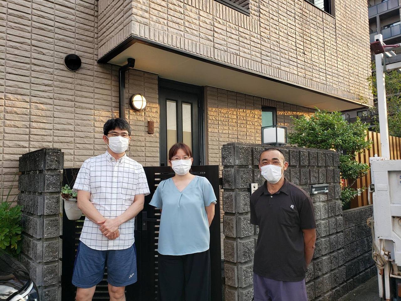 奈良市で強度が不安の車庫の外壁を改修されてお喜びのお客様の声
