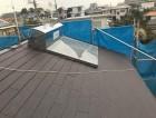 スレート材設置の屋根の様子