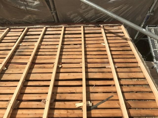 屋根下地調整2