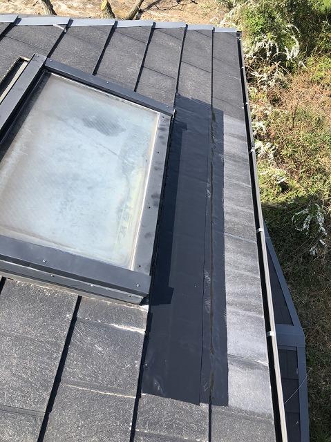 補修後の天窓付近