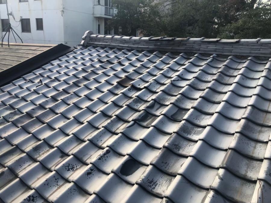奈良市の瓦が落下した屋根の無料点検