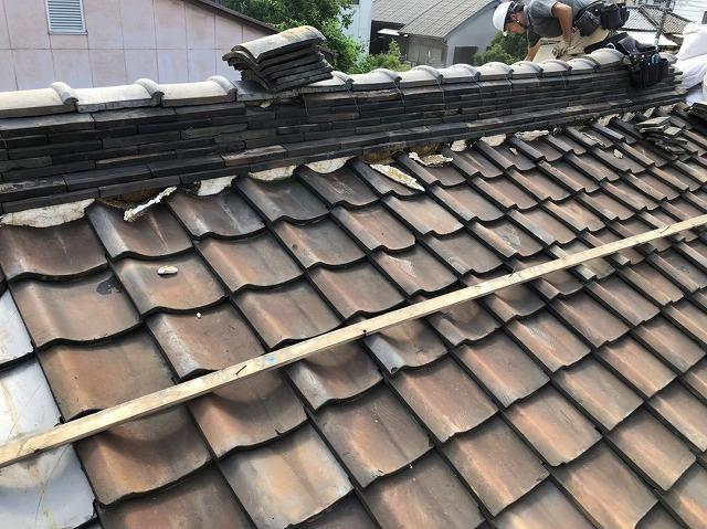 奈良市の和瓦のお住まいの葺き替え工事