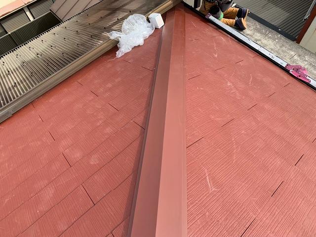 カラーベスト設置完了の屋根
